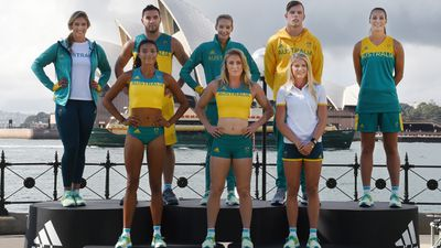 """Athletes will also sport green, white and gold on the track and in the Olympic village, with <a href=""""http://www.9news.com.au/national/2016/04/19/10/53/australian-olympic-team-reveals-competition-uniform"""">special competition and village uniforms</a> designed by Adidas."""