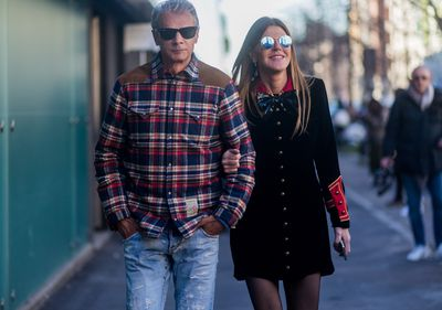 <p>Angelo Gioia opts for classic cowboy and Anna Dello Russo is romance with a touch of punk.</p> <p>Image: Getty.</p>