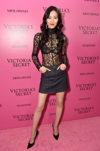 Liu Wen at the 2017 Victoria's Secret Fashion Show After Party