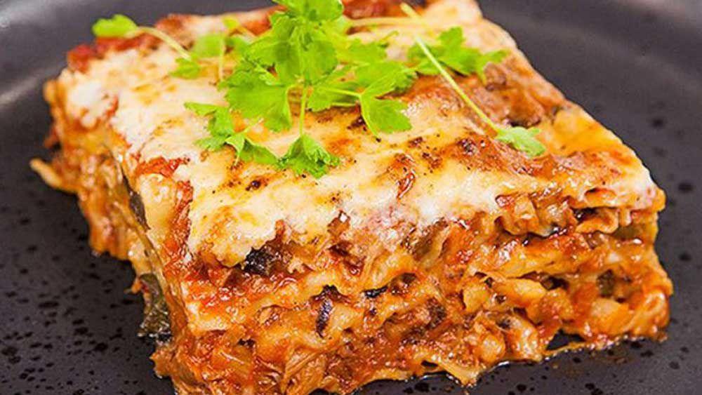 Duck lasagne