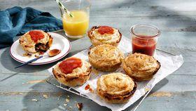 Saucy mini non-meat pies