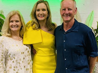 Briony with her parents