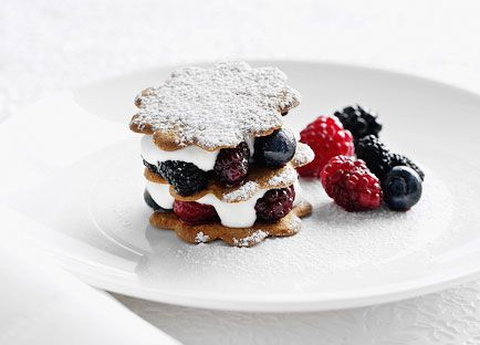 Berries and elderflower yoghurt sandwiches