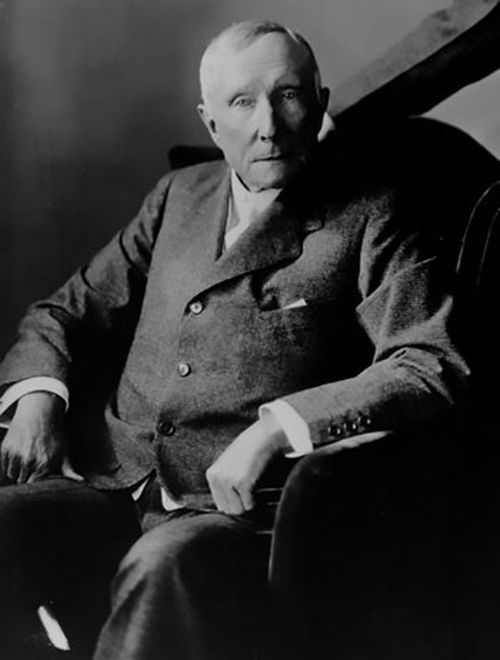 John Rockefeller was the first billionaire, creating a virtual monopoly on the oil industry as electricity and cars became popularly used.