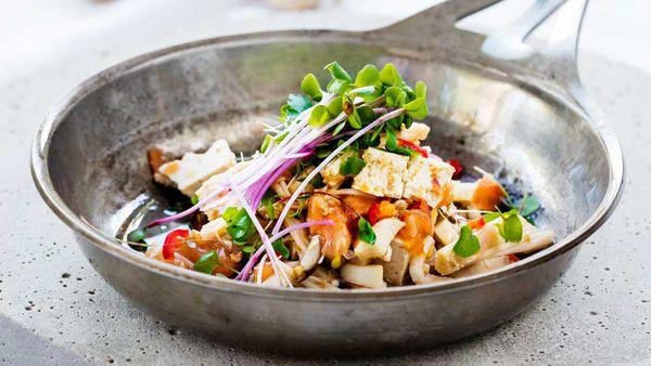 Mushroom and tofu