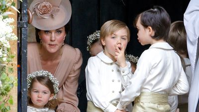 One cheeky pageboy stole the show