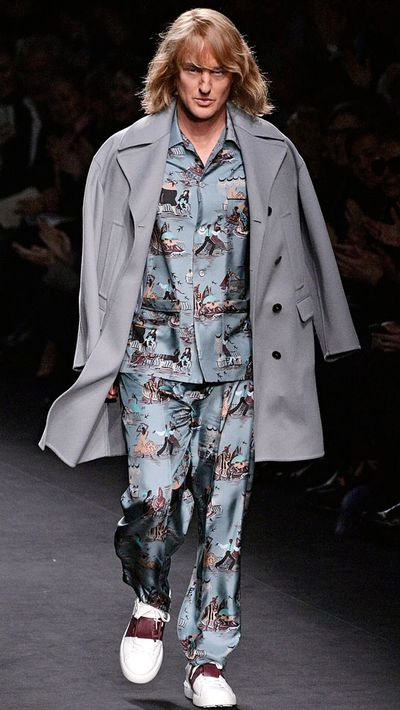 This Valentino look replaces those Hawaiian shirts Uncle Joey was so fond of.
