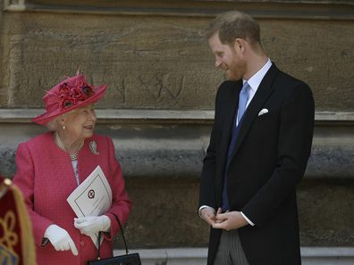 Prince Harry with grandmother Queen Elizabeth