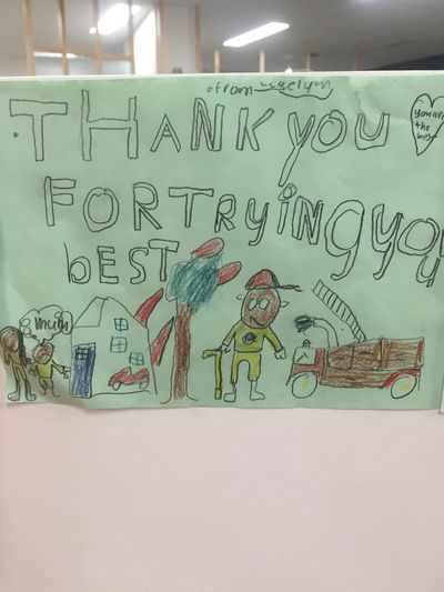 Kids are sending heartwarming letters to firies