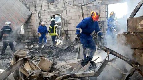 Seventeen people die in fire at Ukrainian home for elderly