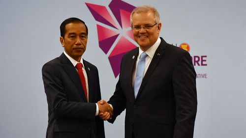 Prime Minister Scott Morrison met with Indonesian President Joko Widodo yesterday.
