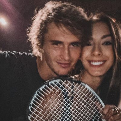 Alexander Zverev and Brenda Patea