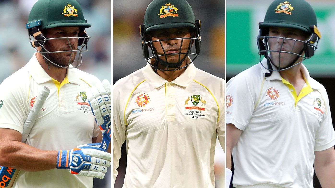 Australia's top order struggled at home