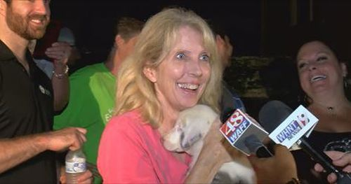 Toffee's owner was so thankful for the community's help. Image: WAFF News
