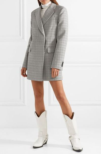 "<a href=""https://www.net-a-porter.com/au/en/product/991036/CALVIN_KLEIN_205W39NYC/oversized-glen-plaid-wool-mini-dress"" target=""_blank"" draggable=""false"">Calvin Klein Oversized Glen plaid wool mini dress</a>, $4,145<br> <br> <br>"