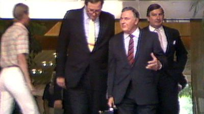 Hauled before the broadcasting tribunal, Bond was accused of lying under oath about a $400,000 payment to then Queensland premier, Sir Joh Bjelke-Petersen.