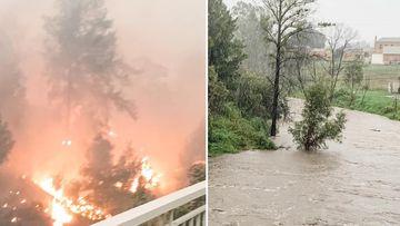 Cobargo fire and flood split
