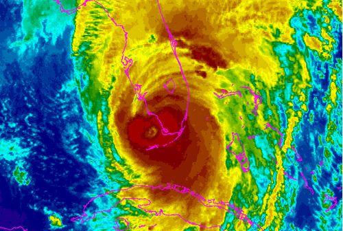 NOAA satellite image.