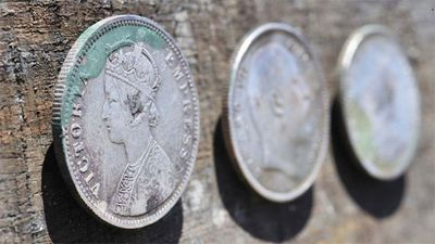 <p>The coins were reportedly melted and the silver sold.  </p>