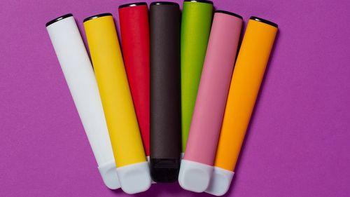 Colourful vapes or e-cigarettes can be harmful.