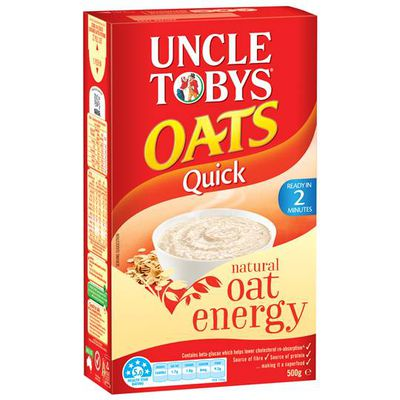 <strong>Uncle Tobys Quick Oats (1 gram of sugar per 100 grams)</strong>