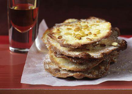 Caramelised pine nut pastries