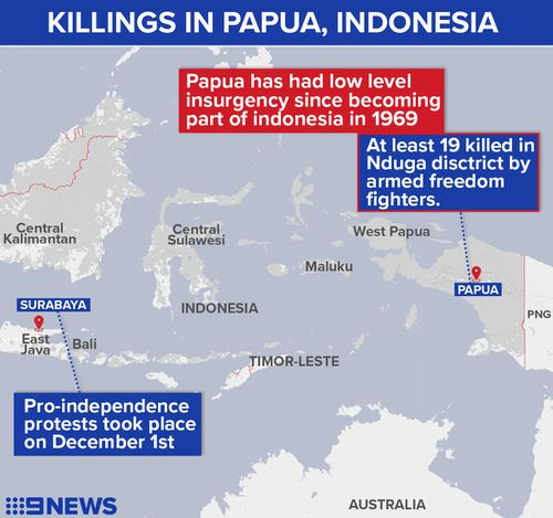 Indonesia facing upsurge in separatist violence from independence fighters in Papua