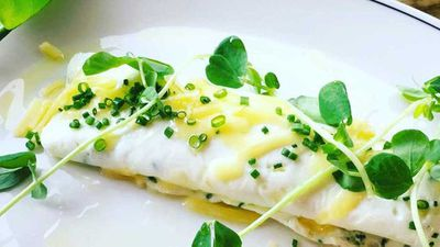 Hotel Centennial's egg white omelette with chives and cheddar