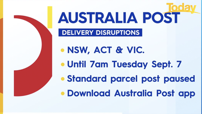 Australia Post has paused standard deliveries until tomorrow, in an attempt to get on top of a backlog.