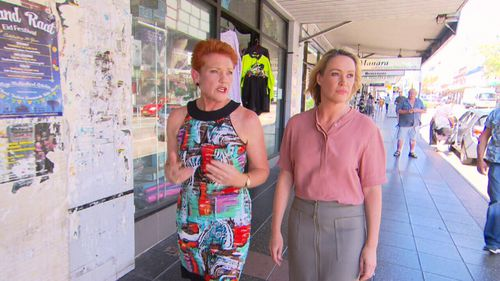 Senator Pauline Hanson visited Lakemba with A Current Affair's Leila McKinnon.