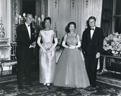 The Kennedys visit Buckingham Palace, June 1961