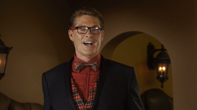 David Hasselhoff stars in The Christmas Consultant.