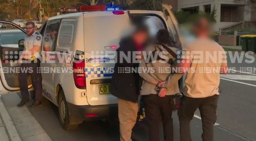 The pair will both face court, with one of the man to appear at Parramatta today. Picture: 9NEWS