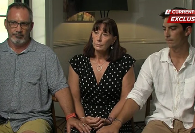 Lloyd, Sue and Nathanial Clarke talk about the incredible loss on Nine's A Current Affair.