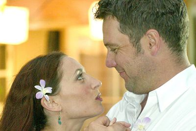 """<div align=""""left""""><B>When:</b> 2003<br/><br/>Now, how do you get the ratings kick of a wedding without being stuck with boring married-life plotlines? Why, you give the groom a brain tumour, of course! Terri (Georgie Parker) arranges a surprise ceremony and exchanges vows with Mitch (Erik Thomsen) just a week before he died. Now, she gets all his assets, and Channel Seven gets funeral episode ratings. Everybody wins!</div>"""