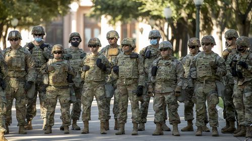 Armed guards in Texas