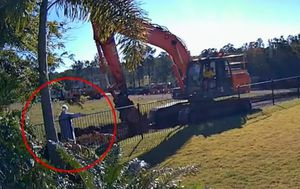 Grandmother takes on excavator in property fight