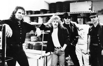 November 1989: The Bombers featuring  John Brewster, Alan Lancaster, Tyrone Coates, Steve Crofts, and Peter Heckenberg