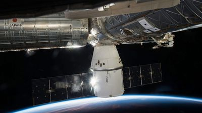 ISS Space X's Dragon cargo capsule docked to the International Space Station (ISS). (AAP)