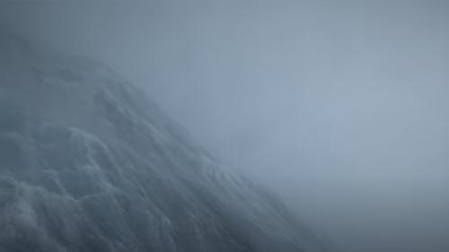 SD 1045 filmed towering waves and roiling ocean from inside Hurricane Sam.