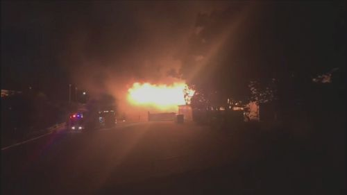 A Brisbane primary school has been declared a crime scene after a fire ripped through one of its buildings overnight.