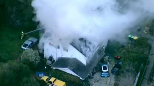 Firefighters rescue man from house fire in Melbourne's east