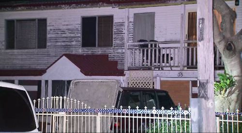 Police tape surrounds the home. (9NEWS)