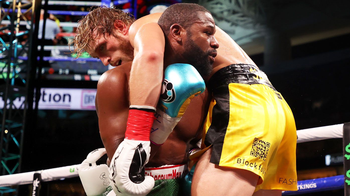 Floyd Mayweather and Logan Paul went the distance, but not everyone is convinced. (Getty)