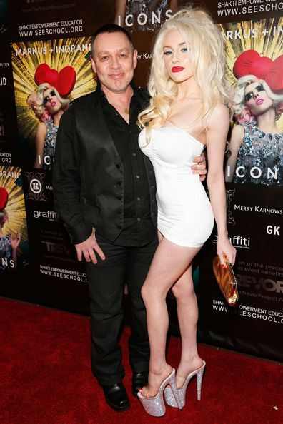 Doug Hutchison and Courtney Stodden at Merry Karnowsky Gallery on January 10, 2013 in Los Angeles, California.