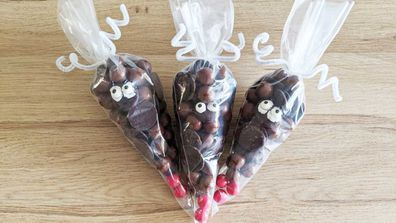 Rudolph the red nosed reindeer chocolate gift bags