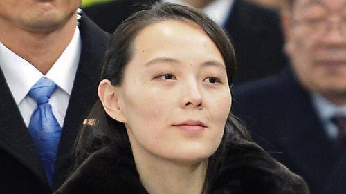 Kim Jong-un's sister, Kim Yo-jong, is among the North Korean group in Pyeongchang. (AAP)
