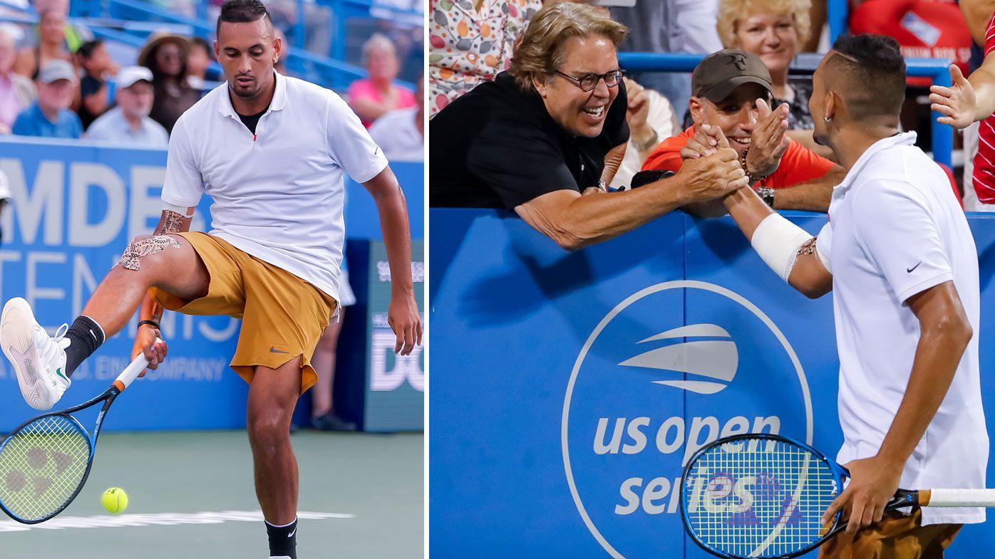 Nick Kyrgios storms into Washington Open final with victory over Stefanos Tsitsipas