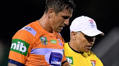 Mitchell Pearce out for four months - and Origin - with torn pectoral muscle