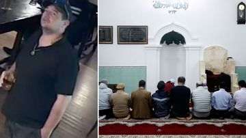 Man wearing a 'Trump' t-shirt arrested outside Al Noor mosque.